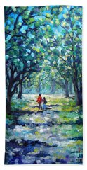 Walking In The Park Beach Towel