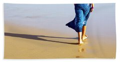 Walking On The Beach Beach Towel