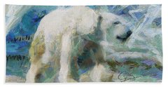 Beach Towel featuring the painting Cold As Ice by Greg Collins