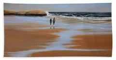 Walking The Beach Beach Towel