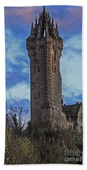 Wallace Monument During Sunset Beach Towel