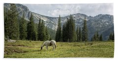 Beach Towel featuring the photograph Wallowas - No. 2 by Belinda Greb
