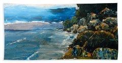 Walomwolla Beach Beach Sheet by Pamela  Meredith