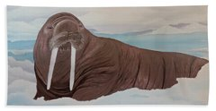 Beach Towel featuring the painting Walter by Dianna Lewis