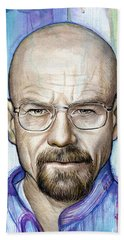 Walter White - Breaking Bad Beach Towel by Olga Shvartsur
