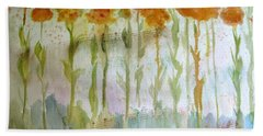 Beach Towel featuring the painting Waltz Of The Flowers by Sandy McIntire