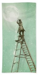 Waning Moon Beach Towel