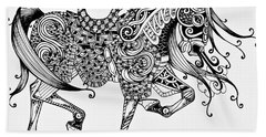 War Horse - Zentangle Beach Sheet