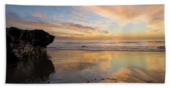 Warm Glow Of Memory Beach Sheet