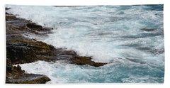 Washing Waves Beach Towel