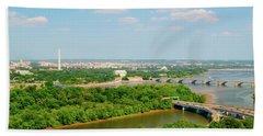 Washington D.c. Aerial View Beach Towel