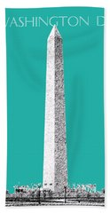 Washington Dc Skyline Washington Monument - Teal Beach Towel