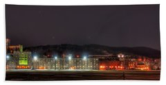Washington Hall At Night Beach Towel