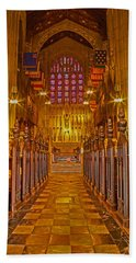 Washington Memorial Chapel Altar Beach Sheet by Michael Porchik
