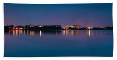 Beach Towel featuring the photograph Washington Skyline by Sebastian Musial