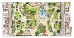 Washington Square Park Map Beach Sheet