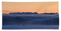 Washington State Ferries At Dawn Beach Sheet by E Faithe Lester