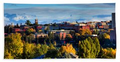 Washington State University In Autumn Beach Sheet by David Patterson