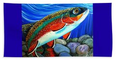 Brook Trout  Beach Towel by Jackie Carpenter