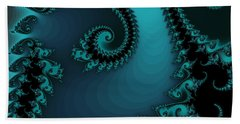 Beach Towel featuring the digital art Watchers On The Chalcedony Slide by Elizabeth McTaggart