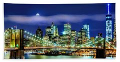 Watching Over New York Beach Towel by Az Jackson