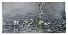 Water Beam Splashing Beach Towel