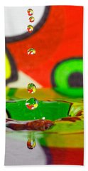 Beach Towel featuring the photograph Water Dew by Peter Lakomy