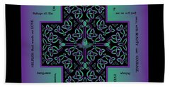 Water Dragon Celtic Cross Beach Sheet