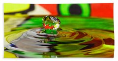 Beach Towel featuring the photograph Water Drop by Peter Lakomy