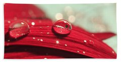 Water Drops And Glitter Beach Towel