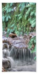 Beach Sheet featuring the photograph Water Falling I by Lanita Williams