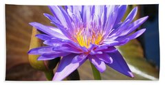 Beach Towel featuring the photograph Water Flower 1004d by Marty Koch