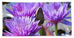 Beach Towel featuring the photograph Water Flower 1006 by Marty Koch