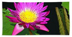 Beach Towel featuring the photograph Water Flower 10089 by Marty Koch