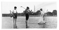 Water Hazard On Golf Course Beach Towel