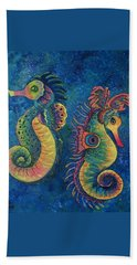 Water Horses Beach Towel