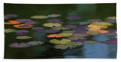 Water Lilies  Nymphaeaceae  On A Pond Beach Towel