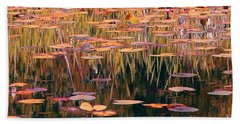 Water Lilies Re Do Beach Towel by Chris Anderson