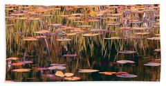 Water Lilies Revisited Beach Towel by Chris Anderson