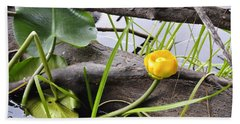 Beach Sheet featuring the photograph Water Lily by Cathy Mahnke