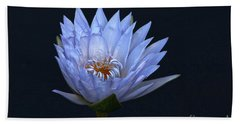 Water Lily Shades Of Blue And Lavender Beach Towel
