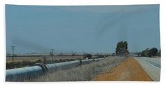 Water Pipeline Beach Towel