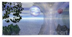 Beach Towel featuring the digital art Water Protection by Kim Prowse