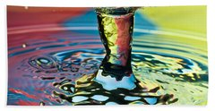 Water Splash Art Beach Towel