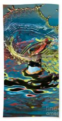 Water Splash Exploding Beach Towel
