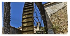 Beach Towel featuring the photograph Water Wheel At Moulin A Huile Michel by Allen Sheffield