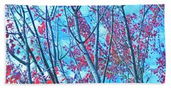 Beach Towel featuring the photograph Watercolor Autumn Trees by Tikvah's Hope