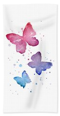 Watercolor Butterflies Beach Towel by Olga Shvartsur