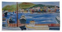 Watercolor - Dingle Ireland Beach Towel