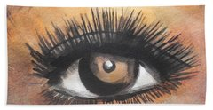 Watercolor Eye Beach Towel